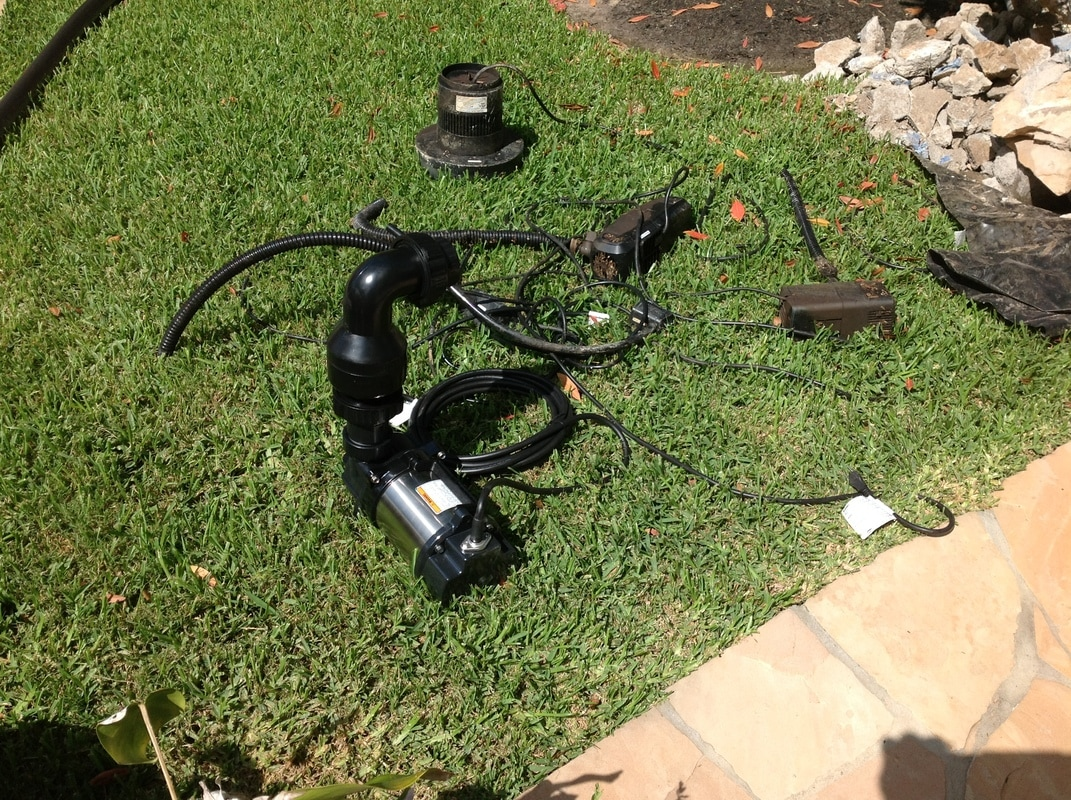 We can replace almost any kind of pond or water feature pump in the Central Texas area.
