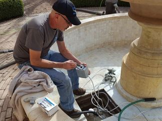 Rebuilding the impeller on a magnetic drive fountain pump in Austin, TX.